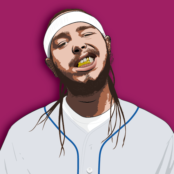 Post Malone Drawing: Marty Melberg